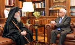 Archbishop Demetrios Meets with Greek Leadership in Athens