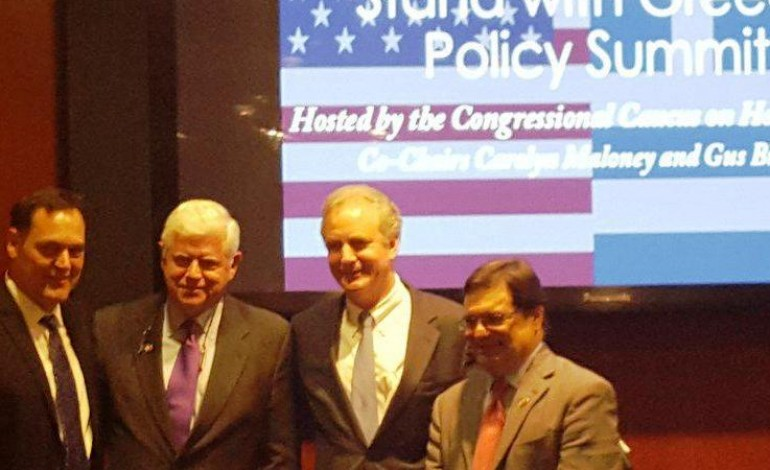 """First """"Stand with Greece"""" Summit. Washington, D.C.- Last week, the Congressional Caucus on Hellenic Issues hosted an inaugural """"Stand with Greece"""" policy summit at the U.S. Capitol. Caucus co-chairs Gus Bilirakis and Carolyn Maloney hosted a consortium of"""