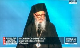 Archbishop Demetrios of America offers a benediction at the Republican National Convention
