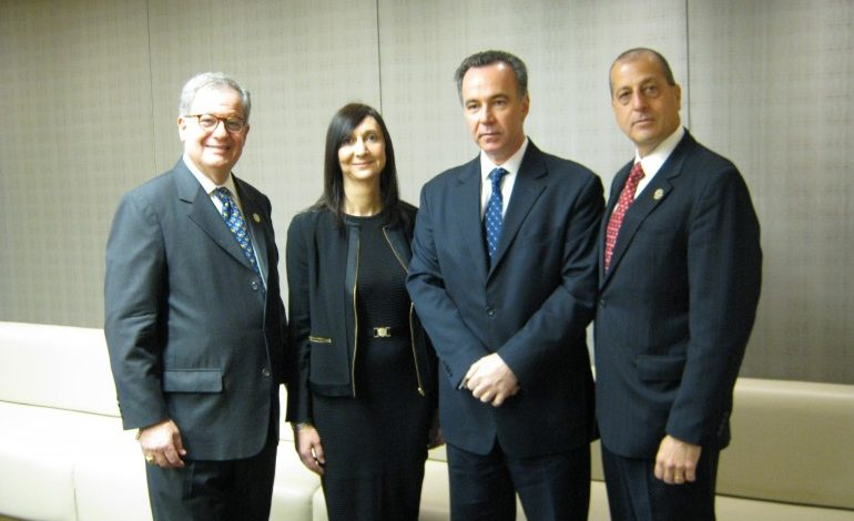 Consul General Koutras briefs members of the  L.I. Greek American Chamber of Commerce