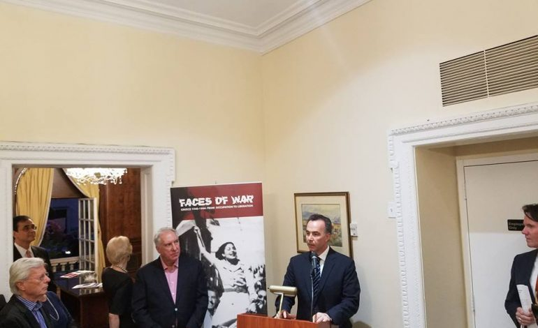 """Faces of War. Greece 1940-1944: From Occupation to Liberation"""", commemorating OXI Day at the Consulate General of Greece in New York"""