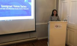 "ASSEMBLYMEMBER ARAVELLA SIMOTAS DISCUSSES THE GREEK IMMIGRANT EXPERIENCE IN ASTORIA AS PART OF THE QUEENS HISTORICAL SOCIETY SERIES, ""IMMIGRANT VOICES"""