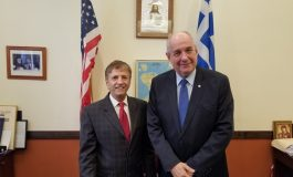Deputy Foreign Mminister for Diaspora Terence Quick meets visits the Federation of the Hellenic Societies in NY
