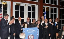 AHEPA's Delphi Chapter honors Dr Marinos Petratos