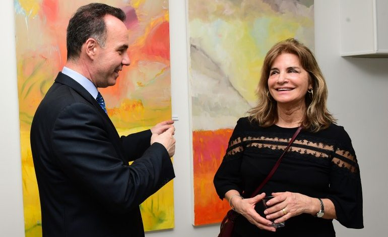 Paintings by Mahy Polymeropoulos at the Consulate General of Greece