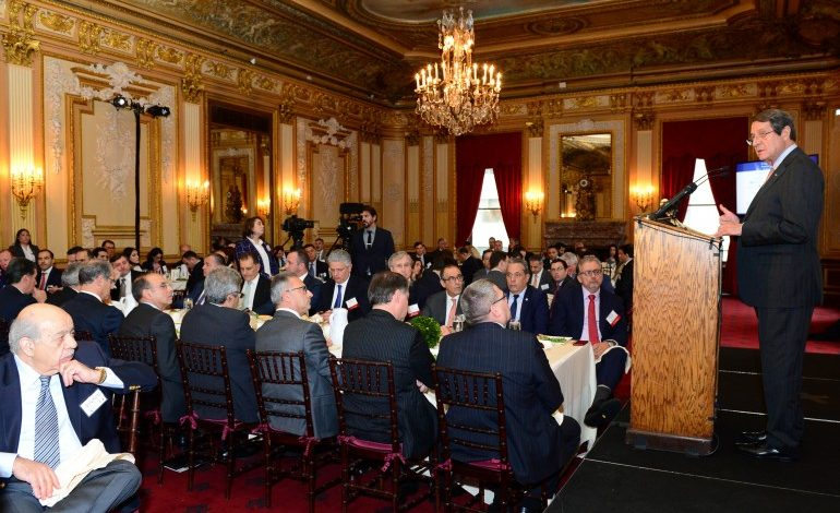 Anastasiades and Government officials present Cyprus' advantages as investment destination at Capital Link Forum