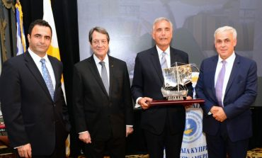 Cyprus Federation honored University of South Carolina President Harry Pastides and Bishop Sevastianos