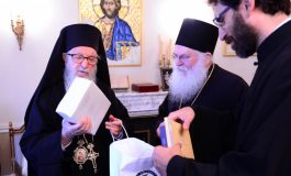 ABBOTT EPHRAIM OF THE VATOPEDI MONASTERY VISITS ARCHBISHOP DEMETRIOS