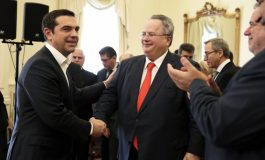 PM Tsipras sworn in as foreign minister,  Kotzias reveals extension o territorial waters