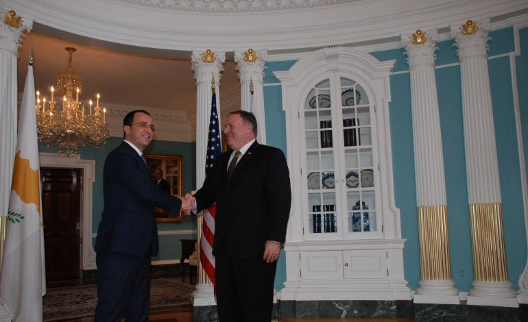Bilateral relations and strengthening security in Eastern Mediterranean among discussions of Christodoulides and Pompeo – Cyprus and US sign statement of intent on security