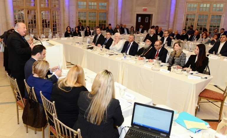 Presidential Commissioner Photiou addressed the convention of the Federation of Cypriot American Organizations