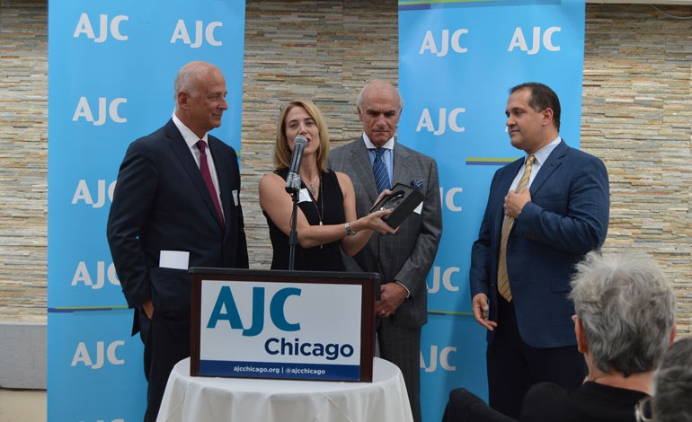 Anastasiades Addressed an AJC Meeting in Chicago Honoring Endy Zemenides