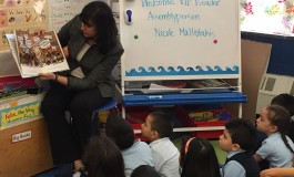 Malliotakis Reads to Children at Hellenic Charter School