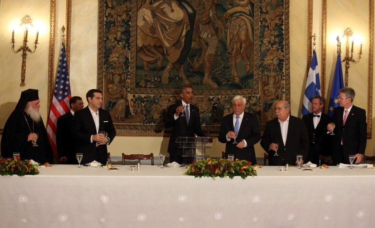 Remarks by President Obama and President Pavlopoulos of Greece at State Dinner