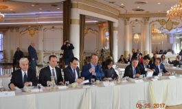 Government Spokesman Nikos Christodoulides briefed  the delegates of the Cyprus Federation National Convention