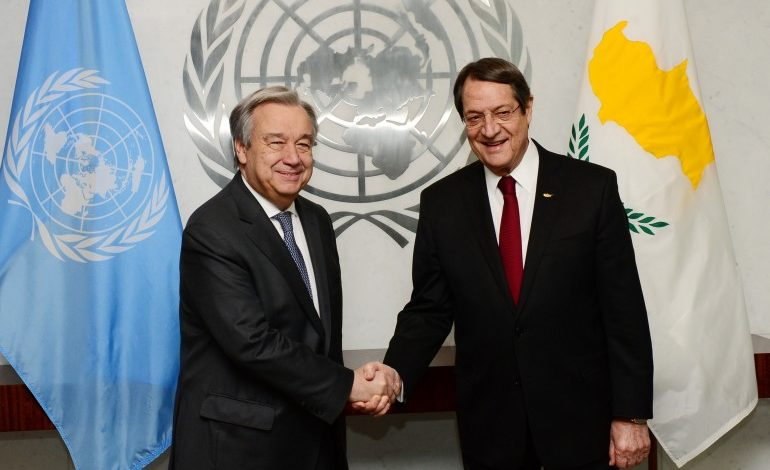 Anastasiades says he and UNSG share the view that negotiations may shortly resume