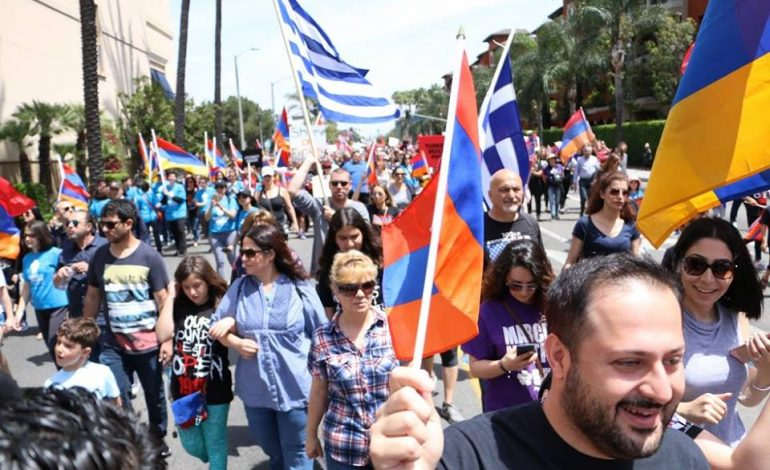 Thousands march in LA seeking recognition of the Armenian Genocide
