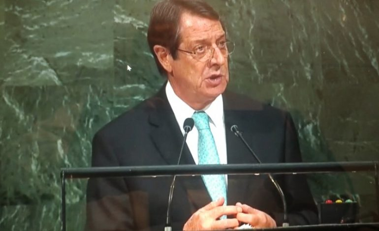 PRESIDENT OF THE REPUBLIC OF CYPRUS NICOS ANASTASIADES' ADDRES AT THE GENERAL DEBATE OF THE 72ND SESSION OF THE UN GENERAL ASSEMBLY
