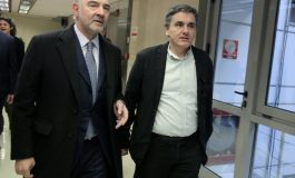 Finance Minister Tsakalotos met with Lagarde  and the heads of EU's  financial Institutions