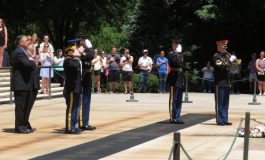 Ahepans Lay a Wreath at Tomb of the Unknowns, Visit 568 Gravesites at Arlington National Cemetery