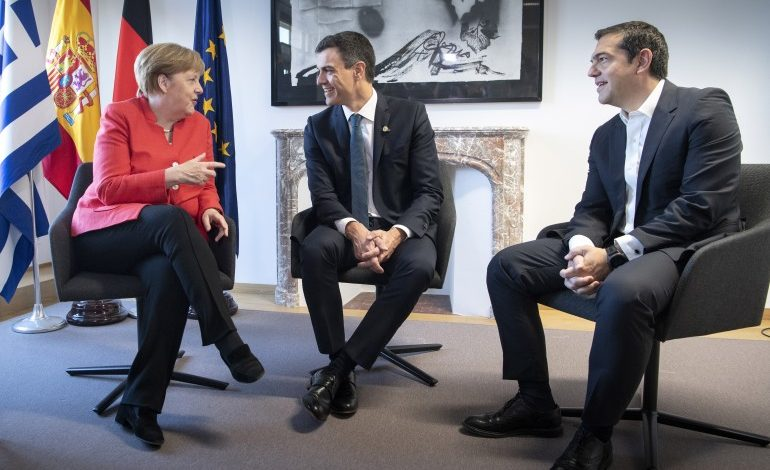 Political agreement between Greece,  Spain and Germany on refugee crisis