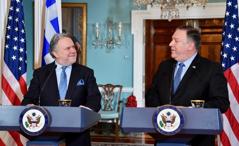 Alternate Foreign Minister George Katrougalos speaks at the conclusion First Strategic Dialogue in Washington