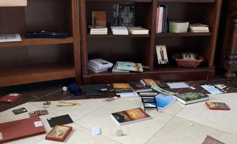 Greek Orthodox Church in Anchorage  survives 7R earthquake with minor damages