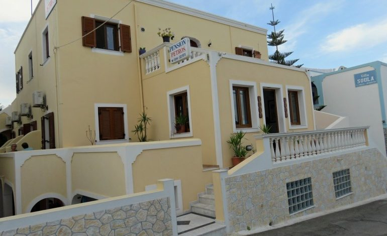 On The Road in Greece: Pension Petros, Santorini