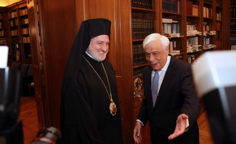 Archbishop Elpidophoros of America was received by President of Greece Prokopios Pavlopoulos and the President of Greek Parliament
