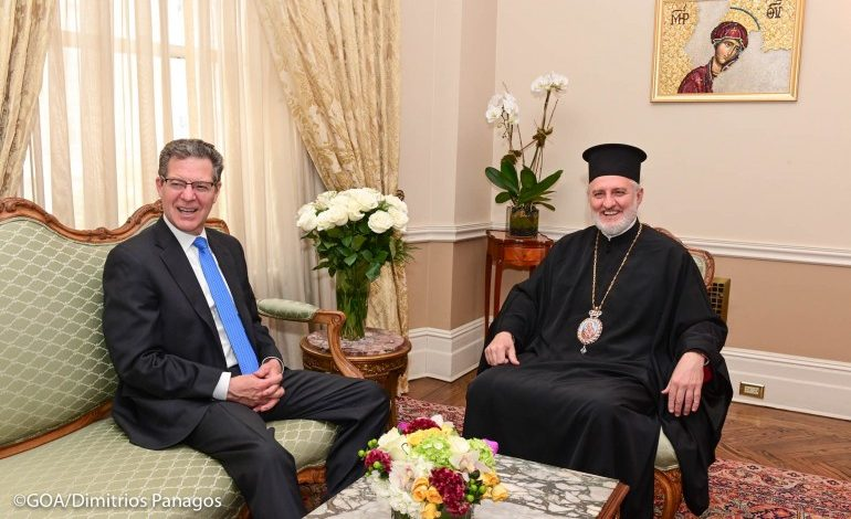 Elpidophoros received U.S Ambassador for Religious Freedom Sam Brownback