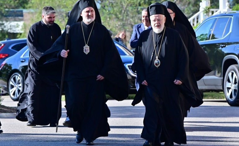 Archbishop Elpidophoros Visits the Metropolis of Boston