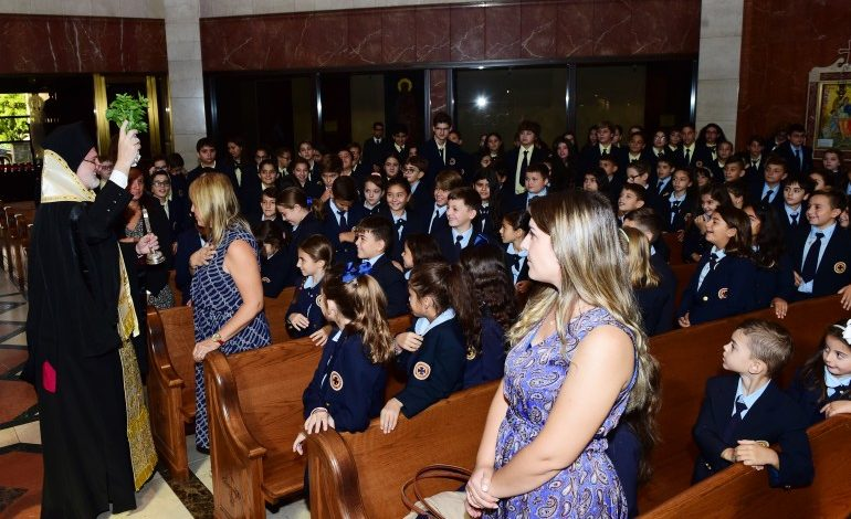Agiasmos for the New School Year at St. Nicholas' William Spyropoulos School
