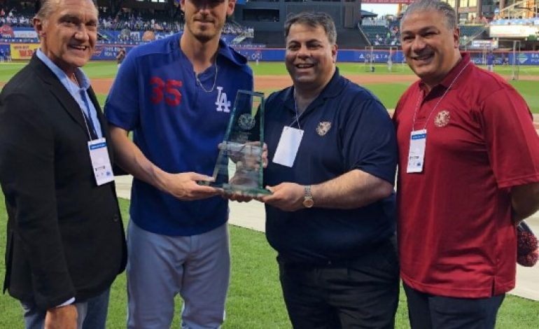 Los Angeles Dodgers All-Star Receives Prestigious Hellenic Athlete Award for Excellence the AHEPA