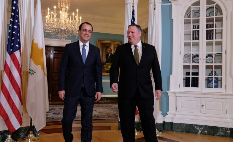 Pompeo sends strong messages on Varosha, bizonal bicommunal federal solution in Cyprus