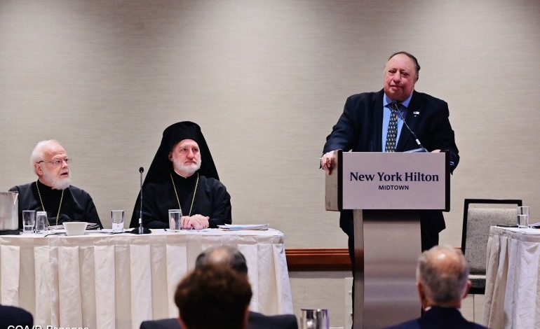 Saint Nicholas to  be open by September 11, 2021, Elpidophoros & Catsimatidis said at the Archdiocesan Council