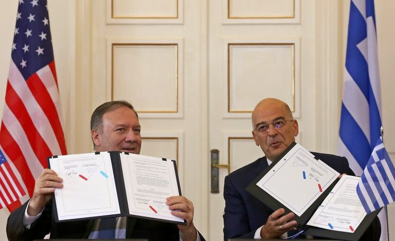 Secretary Pompeo  slams Turkish  drilling, signs  defense cooperation deal with Greece
