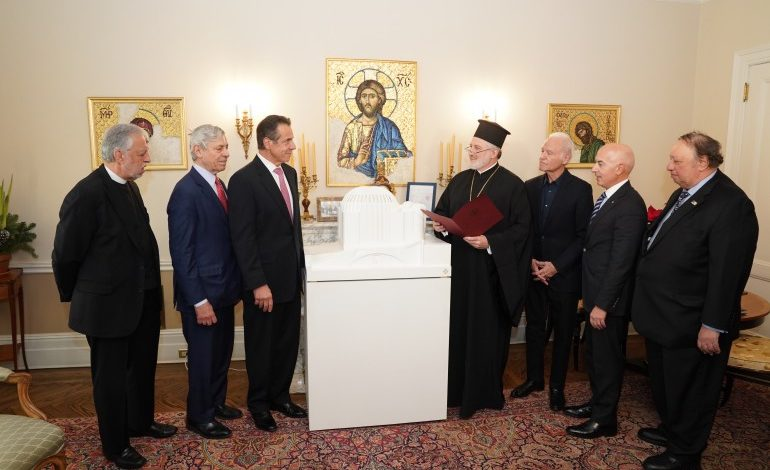 Governor Cuomo and Archbishop Elpidophoros Announced the resumption of Construction on St. Nicholas Church