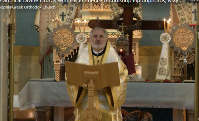Archbishop Elpidophoros directed the Holy Communion  to be offered with use of multiple spoons at the churches of his Metropolis