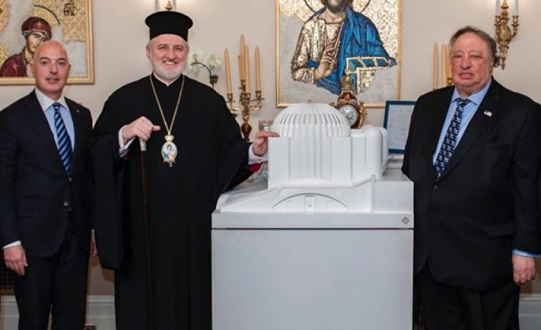 John Catsimatidis and Mike Psaros back Archbishop Elpidophoros' decision to use separate spoons in the Holy Communion