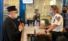 Archbishop Elpidophoros Visits Local Police Precinct in Manhattan