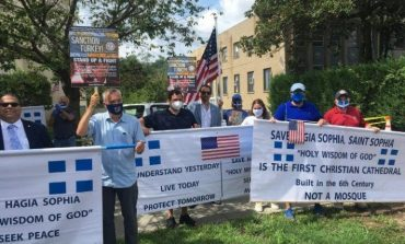 AHEPA protests for Hagia Sophia and Turkish provocations at Turkish Embassy in Washington