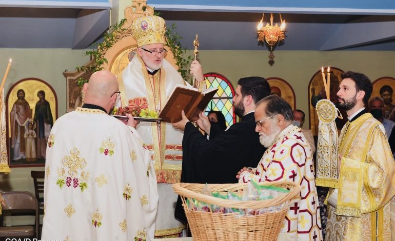 August 6th Archbishop Visit to Transfiguration Greek Orthodox Church During Covid-19 Pandemic