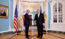 Pompeo to be received Saturday evening by President Anastasiades, diplomatic sources say