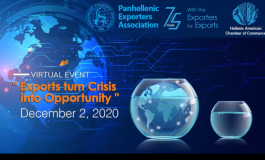 """Exports turn Crisis  into Opportunity""  virtual Forum by the Hellenic-American Chamber of Commerce"