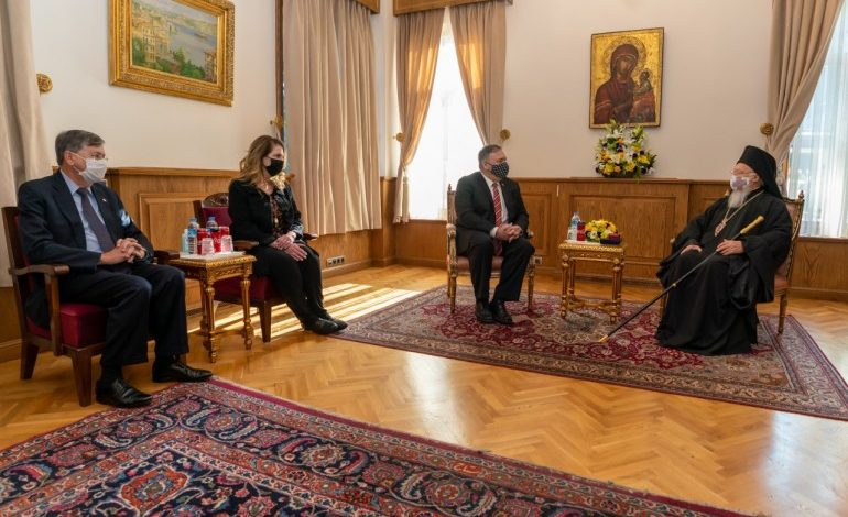 """Ecumenical Patriarchate calls """"historic"""" the visit of Secretary of State Mike Pompeo at the Fanar"""