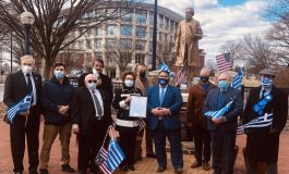 AHEPA commemorates Philhellene John M. Allen in Annapolis for his efforts in Greek War of Independence