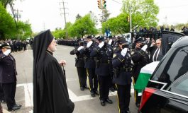 Thousands at the funeral of NYPD officer Anastasios Tsakos